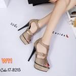 รองเท้าแฟชั่น ส้นสูง รัดข้อ ดีไซน์หุ้มหน้าเท้า แต่งเข็มขัดข้างสวยเก๋ ส้นสูงประมาณ 5.5 นิ้ว เสริมหน้า 1 นิ้ว ใส่ออกงาน ปาร์ตี้ แมทสวยโดดเด่นได้ทุกชุด (17-8215)