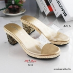 รองเท้าแฟชั่น ส้นสูง คาดพลาสติกใสนิ่มอย่างดีไม่บาดเท้า แต่งขอบรองเท้าด้วยเชือกปอเกร๋ๆ ส้นติดอะไหล่กลิสเตอร์หลากสี ทรงสวยมาก พื้นนิ่ม น้ำหนักเบา สูง 2.5 นิ้ว ทรงสวย ใส่สบาย แมทสวยได้ทุกชุด (8416)