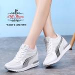 รองเท้าผ้าใบแฟชั่น แต่งลายสวยเรียบเก๋สไตล์เกาหลี เสริมส้น วัสดุอย่างดีนิ่ม ทรงสวย เสริมภายใน 4 cm. สูง 3 cm ใส่สบาย ใส่เที่ยว ออกกำลังกาย แมทสวยเท่ห์ได้ทุกชุด (IM1999)
