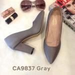 รองเท้าคัทชู ส้นสูง เรียบหรูดูดี ทรงสวย หนังนิ่ม ส้นสูงประมาณ 3.5 นิ้ว ใส่สบาย แมทสวยได้ทุกชุด (CA9837)