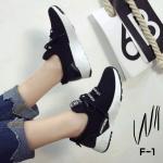 รองเท้าผ้าใบแฟชั่น แต่งลายสวยเก๋สไตล์แบรนด์ วัสดุอย่างดี เชือกหน้าปรับกระชับได้ ใส่ง่าย ทรงสวย ใส่สบาย ใส่เที่ยว ออกกำลังกาย แมทสวยเท่ห์ได้ทุกชุด (F-1)
