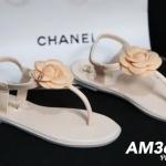รองเท้าแตะแฟชั่น รัดส้น แบบหนีบ แต่งดอกไม้ติดอะไหล่ CC สวยน่ารัก วัสดุอย่างดี ใส่สบาย แมทสวยได้ทุกชุด