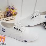 รองเท้าผ้าใบแฟชั่น เรียบเก๋ วัสดุอย่างดี ทรงสวย ใส่สบาย แมทสวยเท่ห์ได้ทุกชุด (663)