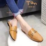รองเท้าคัทชู เปิดส้น ทรงสวย เก็บเท้าเรียว แต่งอะไหล่เรียบหรู ใส่สบาย แมทสวยได้ทุกชุด (2015-81)