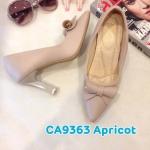 รองเท้าคัทชู ส้นสูง แต่งโบว์สวยเก๋ ส้นเหลี่ยมเก๋ หนังนิ่ม พื้นนิ่ม ส้นสูงประมาณ 4 นิ้ว ใส่สบาย แมทสวยได้ทุกชุด (CA9363)