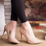 รองเท้าคัทชู ส้นสูง หนังเงาสวยเรียบหรู ทรงสวยเพรียว ส้นสูงประมาณ 4.5 นิ้ว ใส่ออกงาน สวยโดดเด่น แมทสวยได้ทุกชุด