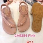 รองเท้าแตะแฟชั่น แบบสวม รัดส้น คาดเฉียง แต่งอะไหล่สวยหรู หนังนิ่ม พื้นนิ้ม ทรงสวย ใส่สบาย แมทสวยได้ทุกชุด (CA9254)