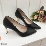 รองเท้าคัทชู ส้นสูง หนังนิ่ม ใส่สบาย ทรงสวย สุดเก๋ด้วยส้นเหลี่ยม ส้นสูงประมาณ 4 นิ้ว แมทสวยได้ทุกชุด (K2940)
