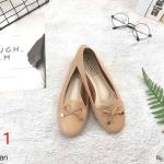 รองเท้าคัทชู ส้นแบน หัวมนแต่งโบว์สวยน่ารัก ทรงสวย หนังนิ่ม ใส่สบาย แมทสวยได้ทุกชุด (KT16)