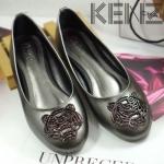 รองเท้าคัทชู ส้นแบน ทรงหัวมนแต่งอะไหล่เสือสไตล์เคนโซ่สวยเก๋ หนังนิ่ม ทรงสวย ใส่สบาย แมทสวยได้ทุกชุด (KZ-1014)