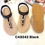 รองเท้าแตะแฟชั่น แบบหนีบ รัดส้น แต่งอะไหล่สวยเก๋ รัดส้นยางยืดนิ่ม พื้นนิ่ม ใส่สบาย แมทสวยได้ทุกชุด (CA9242)
