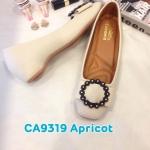 รองเท้าคัทชู ส้นเตี้ย แต่งอะไหล่สวยเก๋ หนังนิ่ม ใส่สบาย ทรงสวย แมทสวยได้ทุกชุด (CA9319)