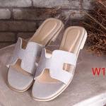 รองเท้าแตะแฟชั่น แบบสวม คาดหน้า H สไตล์แอร์เมส หนังกลิสเตอร์วิ้งสวยหรู ใส่สบาย แมทสวยได้ทุกชุด