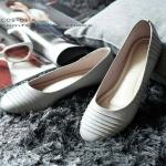 รองเท้าคัทชู ส้นเตี้ย ทรงบัลเลต์หัวมน ดีไซน์โมเดิร์น ทรงสวย หนังนิ่ม สวมใส่สบาย ใส่เที่ยว ใส่ทำงาน แมทสวยได้ทุกชุด (C05-051)