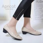 รองเท้าคัทชู ส้นเตี้ย แต่งกระดุมสวยเก๋ ทรงสวย หนังนิ่ม ใส่สบาย ส้นสูงประมาณ 2 นิ้ว แมทสวยได้ทุกชุด (0290-A14)