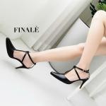 รองเท้าคัทชู ส้นสูง รัดส้น แต่งสายไขว้สวยเก๋ หนังนิ่ม ทรงสวย ส้นสูงประมาณ 3 นิ้ว ใส่สบาย แมทสวยได้ทุกชุด