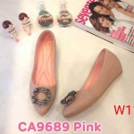 รองเท้าคัทชู ส้นเตารีด แต่งอะไหล่ด้านหน้าสวยหรู ทรงสวย หนังนิ่ม ใส่สบาย ส้นสูงประมาณ 2 นิ้ว แมทสวยได้ทุกชุด (CA9689)