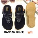 รองเท้าแตะแฟชั่น แบบหนีบ แต่งอะไหล่สวยเก๋ รัดส้นยางยืดนิ่ม พื้นนิ่ม ใส่สบาย แมทสวยได้ทุกชุด (CA9336)