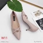 รองเท้าคัทชู ส้นเตี้ย ทรงหัวแหลม แต่งสายไขว้ด้านหน้าสวยเก๋ หนังนิ่ม ทรงสวย ส้นสูงประมาณ 2.5 นิ้ว ใส่สบาย แมทสวยได้ทุกชุด (K9304)