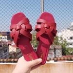 รองเท้าแตะแฟชั่น แบบสวม คาดหน้าสไตล์อีฟแซงสวยเก๋ อินเทรนด์ ทรงสวย ใส่สบาย แมทสวยได้ทุกชุด (MR11)