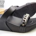 รองเท้าแตะแฟชั่น แบบสวม แต่งโซ่สวยเท่ห์เก๋สไตล์แบรนด์ พื้นซอฟคอมฟอตนิ่มสไตล์ฟิตฟลอบ ใส่สบายมาก แมทสวยได้ทุกชุด (7709-303)