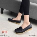 รองเท้าคัทชู ทรง loafer แต่ง V ด้านหน้า หนังนิ่ม พื้นนิ่ม พื้นยางยืดหยุ่น ทรงสวย ใส่สบาย แมทสวยได้ทุกชุด (N010)