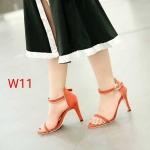 รองเท้าแฟชั่น ส้นสูง รัดข้อ แต่งตัดสีขอบสวยเรียบหรู หนังนิ่ม ทรงสวย ใส่สบาย ส้นสูงประมาณ 4 นิ้ว แมทสวยได้ทุกชุด