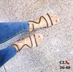 รองเท้าแตะแฟชั่น แบบสวม รัดข้อ สายคาดหน้าเฉียงแต่งโซ่สไตล์แบรนด์สุดเก๋ ใส่สบาย แมทสวยได้ทุกชุด (DD41)