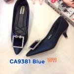 รองเท้าคัทชู ส้นเตี้ย แต่งอะไหล่ติดเพชรสวยเก๋ หนังนิ่ม ทรงสวย ส้นสูงประมาณ 1.5 นิ้ว ใส่สบาย แมทสวยได้ทุกชุด (CA9381)