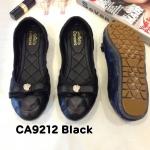 รองเท้าคัทชู ส้นแบน หนังนิ่มปักลายแต่งโบว์สวยน่ารัก ใส่สบาย แมทสวยได้ทุกชุด (CA9212)