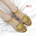รองเท้าแฟชั่น ส้นสูง รัดส้น แต่งอะไหล่หรูด้านหน้าสไตล์แบรนด์ ทรงสวย ส้นสูงประมาณ 2 นิ้ว ใส่สบาย แมทสวยได้ทุกชุด