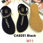 รองเท้าแตะแฟชั่น แบบหนีบ รัดส้น แต่งอะไหล่สวยหรู หนังนิ่ม พื้นนิ้ม ทรงสวย ใส่สบาย แมทสวยได้ทุกชุด (CA9251)