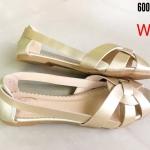 รองเท้าคัทชู ส้นแบน สไตล์ลำลอง หนังสานด้านหน้าสไตล์แบรนด์ ทรงสวยเก็บหน้าเท้า หนังนิ่ม ใส่สบาย แมทสวยเท่ห์ได้ทุกชุด (600761)