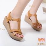 รองเท้าแฟชั่น แบบสวม ส้นเตารีด รัดส้น สวยเก๋ หนังนิ่ม ใส่สบาย แมทสวยได้ทุกชุด (B-2153-4)