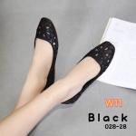 รองเท้าคัทชู ส้นแบน ฉลุลายดอกไม้สวยเก๋น่ารัก ทรงสวย ใส่สบาย แมทสวยได้ทุกชุด (028-28)