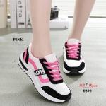 รองเท้าผ้าใบแฟชั่น งานนำเข้า แต่งลายสวยเก๋สไตล์เกาหลี ดีไซน์น่ารักมาก พื้นยางกันลื่นอย่างดี มีเชือกปรับกระชับเท้าด้านหน้า น้ำหนักเบา ทรงสวย ใส่สบาย ใส่เที่ยว ออกกำลังกาย แมทสวยได้ทุกชุด (0890)
