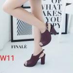 รองเท้าแฟชั่น ส้นสูง แบบสวม รัดส้น สไตล์เรียบหรูหุ้มหน้าเท้า ทรงสวย หนังนิ่ม ส้นสูงประมาณ 4 นิ้ว ใส่สบาย แมทสวยได้ทุกชุด