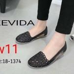 รองเท้าคัทชู ส้นแบน แต่งลายฉลุสวยหวานน่ารัก หนังนิ่ม พื้นยางนิ่มยืดหยุ่น ใส่สบาย แมทสวยได้ทุกชุด (18-1374)