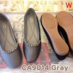 รองเท้าคัทชู ส้นแบน แต่งอะไหล่สวยเก๋ หนังนิ่ม พื้นนิ่ม ใส่สบาย แมทสวยได้ทุกชุด (CA9014)