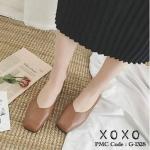 รองเท้าคัทชู ส้นแบน แต่งเย็บทับซ้อนด้านหน้าเป็นลายสวยเรียบเก๋ ด้านหน้ากว้าง ใส่สบาย น้ำหนักเบา หนังนุ่ม แมทส์ชุดง่าย ทรงสวย ใส่สบาย แมทสวยได้ทุกชุด ดำ ครีม น้ำตาล (G-1328)