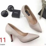รองเท้าคัทชู ส้นเตี้ย สวยเรียบหรู ทรงสวย หนังนิ่ม ส้นสูงประมาณ 3 นิ้ว ใส่สบาย แมทสวยได้ทุกชุด (K9093)