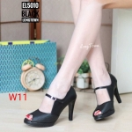 รองเท้าคัทชู ส้นสูง รัดส้น แต่งลายสายด้านหน้า มีสายคาดเพิ่มความกระชับสวยเก๋ ส้นสูงประมาณ 3.5 นิ้ว ใส่สบาย แมทสวยได้ทุกชุด (EL5010)