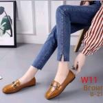 รองเท้าคัทชู ส้นเตี้ย แต่งอะไหล่เรียบเก๋ดูดี ทรงสวย หนังนิ่ม ใส่สบาย แมทสวยได้ทุกชุด (B-21)