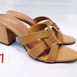 รองเท้าแฟชั่น แบบสวม คาดหน้าสไตล์อีฟแซงสวยเก๋ อินเทรนด์ ทรงสวย ส้นสูงประมาณ 2.5 นิ้ว ใส่สบาย แมทสวยได้ทุกชุด (HT06)