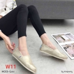 รองเท้าผ้าใบแฟชั่น ทรง slip on สไตล์ TOMs สีเลื่อมมันสวยเก๋ ทรงสวย ใส่สบาย แมทสวยได้ทุกชุด (M003)