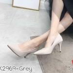 รองเท้าคัทชุู ส้นสูง แต่งอะไหล่ D ที่ส้นสวยเก๋สไตล์ดิออร์ ทรงสวย หนังนิ่ม ส้นสูงประมาณ 4 นิ้ว ใส่สบาย แมทสวยได้ทุกชุด (K2969)