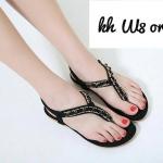 รองเท้าแตะแฟชั่น แบบหนีบ รัดส้น แต่งอะไหล่สวยหรู รัดส้นยางยืดนิ่มกระชับเท้า พื้นนิ่ม หนังนิ่ม ใส่สบาย แมทสวยได้ทุกชุด (ฺB392-3)