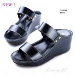 รองเท้าแฟชั่น ส้นเตารีด แบบสวม คาดหน้าสองตอน กระชับเท้ามาก งานหนังพียูอยู่ทรงเรียบเก๋ เดินง่ายสูง 2.5 นิ้ว หนังนิ่ม ใส่สบาย แมทสวยได้ทุกชุด (GS6149)
