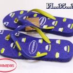 รองเท้าแตะแฟชั่น แบบหนีบ สไตล์ havaianas สกรีนลายสีสดใส วัสดุยางอย่างดีนิ่มยืดหยุ่น สวยเก๋ ใส่สบาย แมทสวยได้ทุกชุด