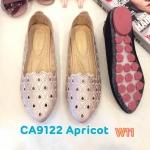 รองเท้าคัทชู ส้นแบน ฉลุลายสวยน่ารัก หนังนิ่ม พื้นนิ่ม ใส่สบาย แมทสวยได้ทุกชุด (CA9122)